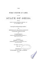 The Public Statutes at Large of the State of Ohio
