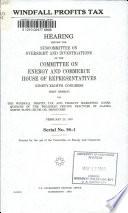 Windfall Profits Tax Book