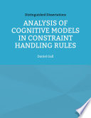 Analysis of Cognitive Models in Constraint Handling Rules