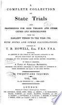 A Complete Collection of State Trials and Proceedings for High Treason and Other Crimes and Misdemeanors Book