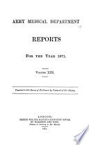 Report Of The Army Medical Department Great Britain
