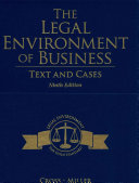 The Legal Environment of Business   Cengagenow With Digital Video Library