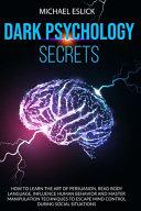 Dark Psychology Secrets Book PDF