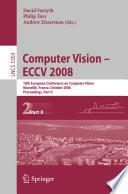 Computer Vision   ECCV 2008 Book