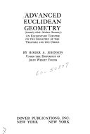 Advanced Euclidean Geometry  formerly Titled  Modern Geometry