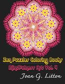 Zen Puzzles Coloring Books Mindfulness Vol  4