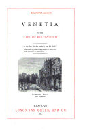 Novels and Tales by the Earl of Beaconsfield  Venetia