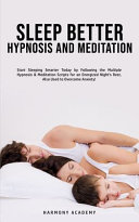 Sleep Better Hypnosis and Meditation Book