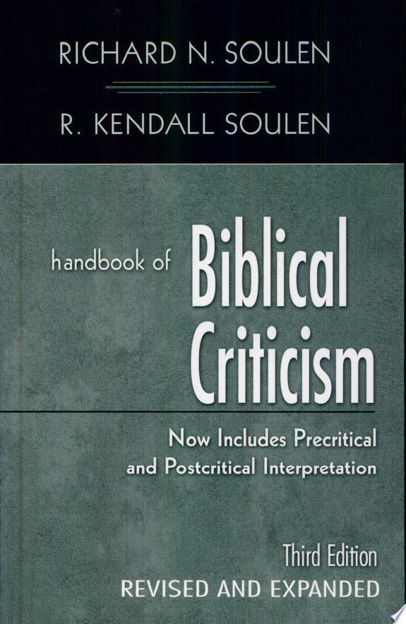 Handbook of Biblical Criticism