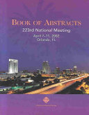 Book of Abstracts 223rd ACS National Meeting