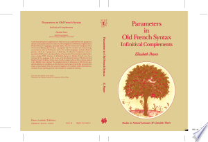 [pdf - epub] Parameters in Old French Syntax: Infinitival Complements - Read eBooks Online