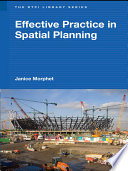 Effective Practice In Spatial Planning