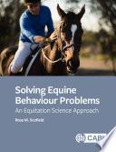 Solving Equine Behaviour Problems Book PDF