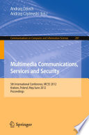 Multimedia Communications Services And Security Book PDF
