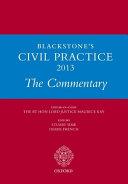 Blackstone s Civil Practice 2013  The Commentary