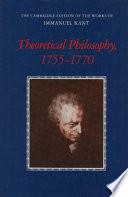 Theoretical Philosophy, 1755-1770