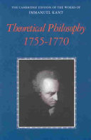 Theoretical Philosophy  1755 1770