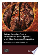 Robust Adaptive Control for Fractional Order Systems with Disturbance and Saturation