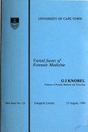 Varied Facets of Forensic Medicine