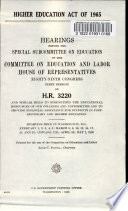 Higher Education Act of 1965 Book