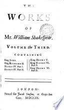 The Works Of Mr William Shakespear