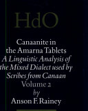 Canaanite in the Amarna tablets. 2. Morphosyntactic analysis of the verbal system