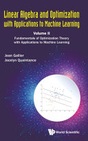 Linear Algebra and Optimization with Applications to Machine Learning Book