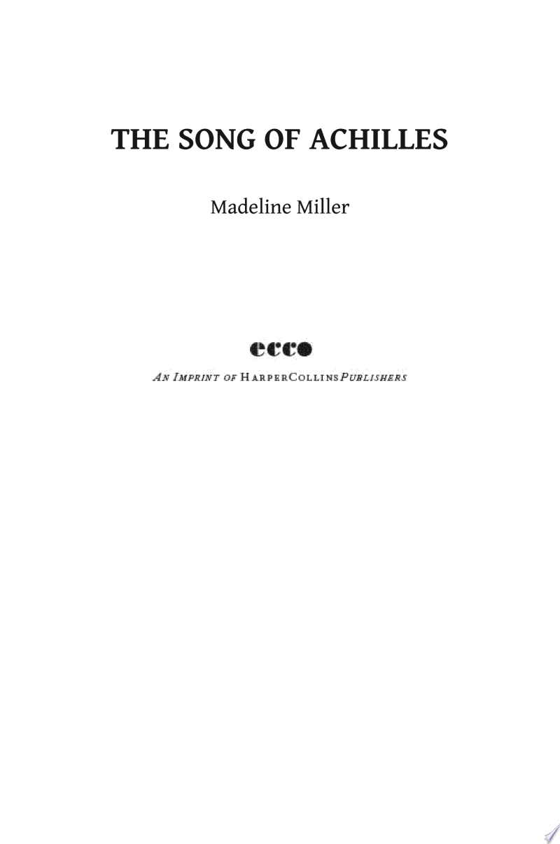 The Song of Achilles image