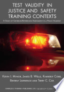Test Validity In Justice And Safety Training Contexts