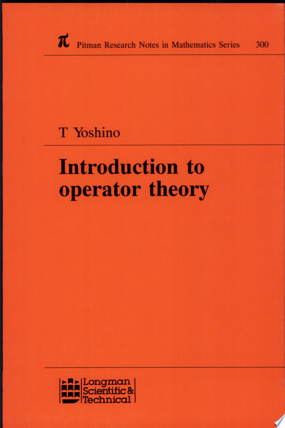 Introduction to Operator Theory