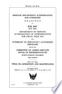 Title III  operation and maintenance Book