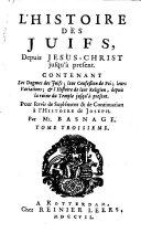 L'histoire et la religion des Juifs, depuis Jesus-Christ jusqu'à present