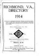 Hill s Richmond City Directory  Chesterfield and Henrico Counties  Va    Book