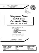 Pdf Watermaster Service in the Central Basin, Los Angeles County for the Period ...