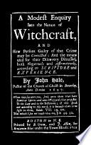 Modest Enquiry Into the Nature of Witchcraft by John Hale PDF