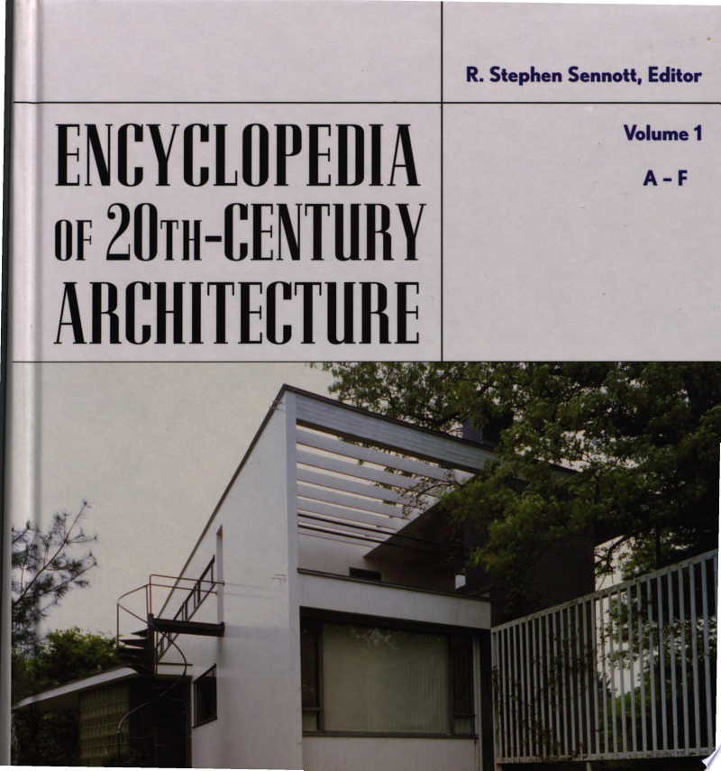 Encyclopedia of Twentieth Century Architecture banner backdrop