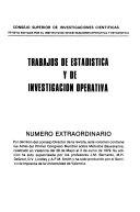 Trabajos de estadística y de investigación operativa