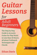 Guitar Lessons for Adult Beginners