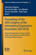 Pdf Proceedings of the 20th Congress of the International Ergonomics Association (IEA 2018) Telecharger