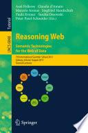 Reasoning Web. Semantic Technologies for the Web of Data