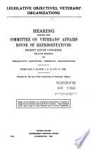 Legislative Objectives Veterans Organizations