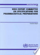 WHO Expert Committee on Specifications for Pharmaceutical Preparations Book