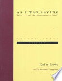 As I Was Saying - Recollections and Miscellaneous Essays