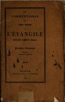 Les commentaires sur l'Evangile selon Saint Jean