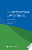 Environmental Law in Israel