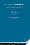 The Science Of Public Policy Evolution Of Policy Sciences Pt 1