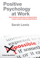 Positive Psychology at Work Book