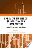 Empirical Studies of Translation and Interpreting