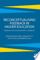 Reconceptualising Feedback In Higher Education Book PDF