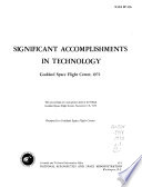 Significant Accomplishments in Technology